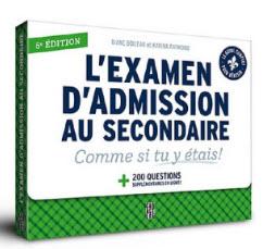 Examen d'admission au secondaire cours privés SOSprof SOSteacher