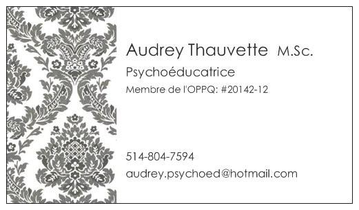 Audrey Thauvette psychoéducatrice auteure chez SOSprof