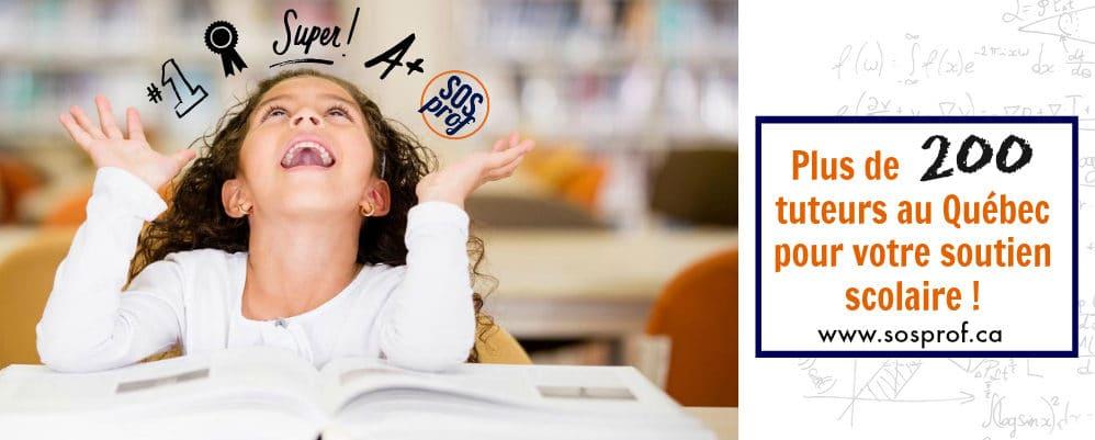Aide aux devoirs et tutorat montréal sosprof
