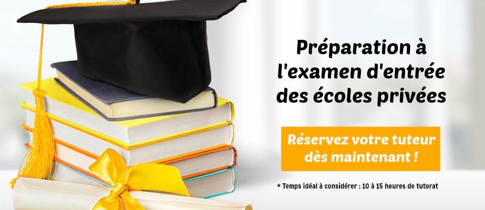 préparation à l'examen d'entrée des écoles privées sosprof